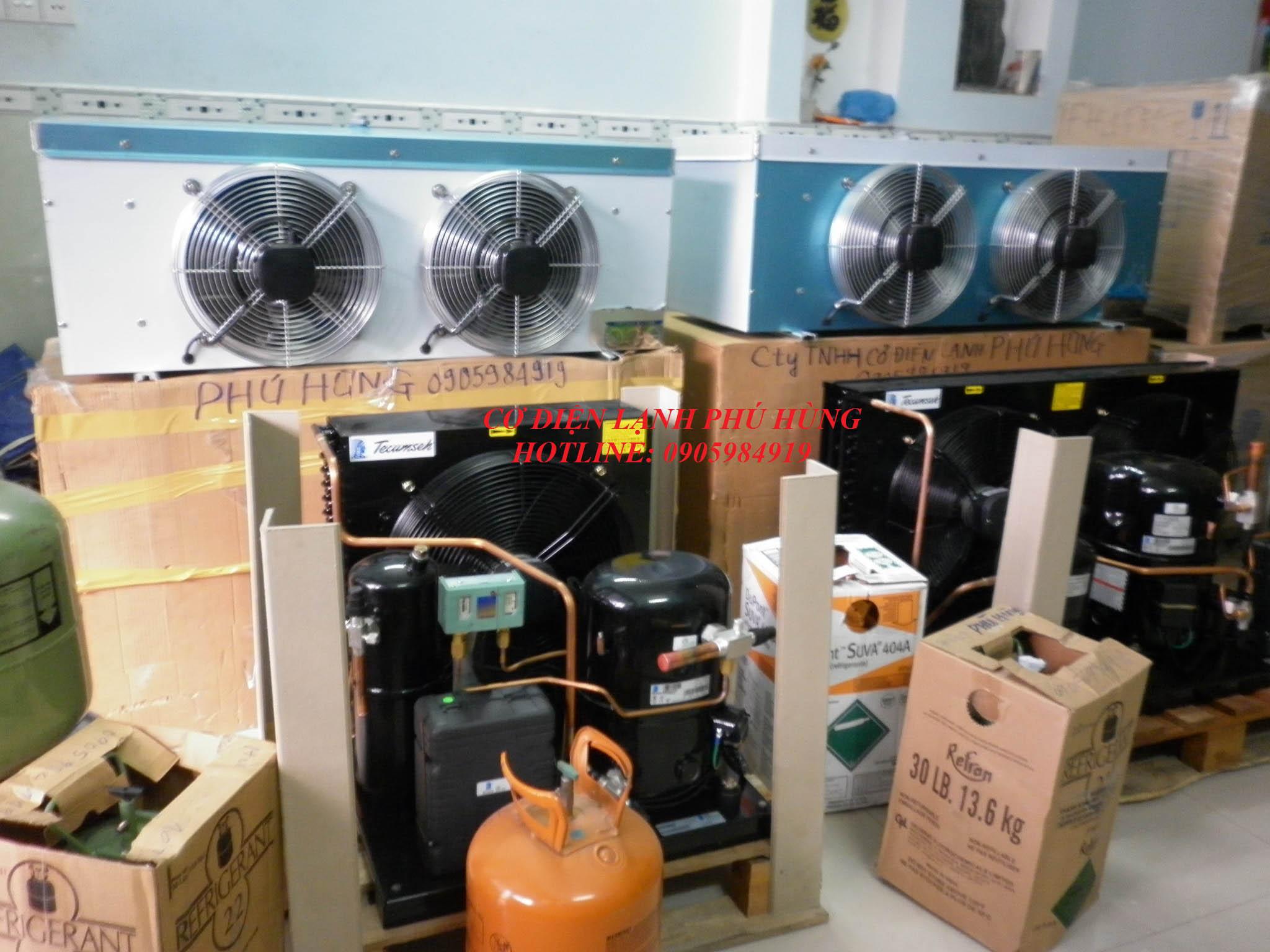 Cụm máy nén dàn ngưng kho đông lạnh Đà Nẵng vtP1070068