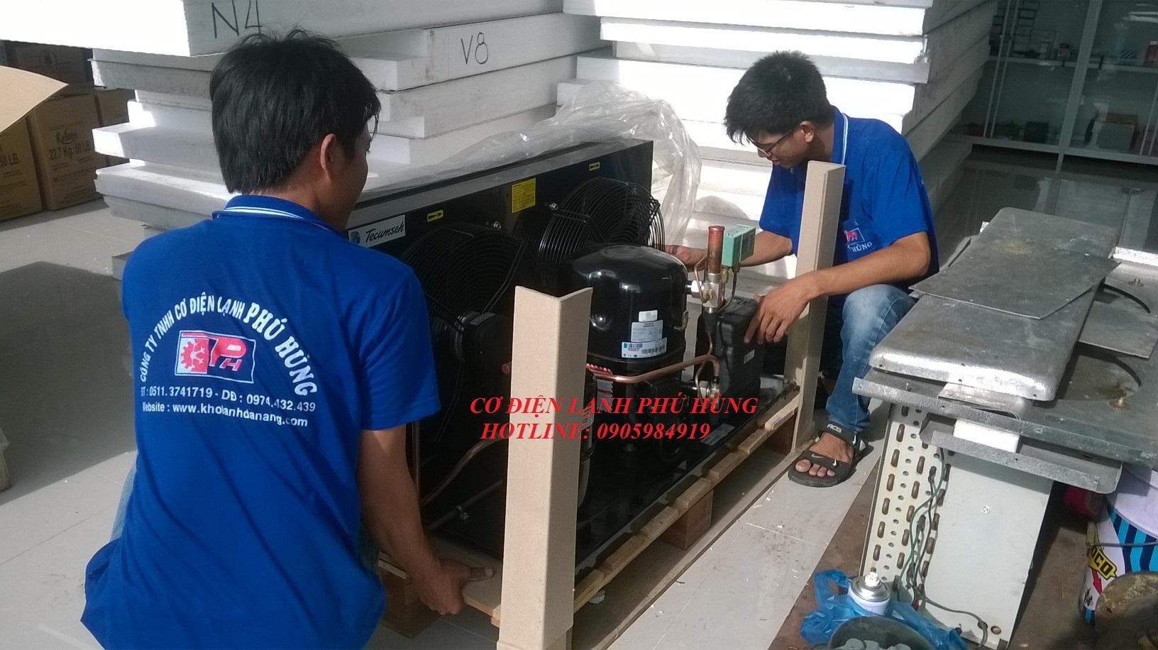 Cụm máy nén dàn ngưng kho đông lạnh Đà Nẵng m1