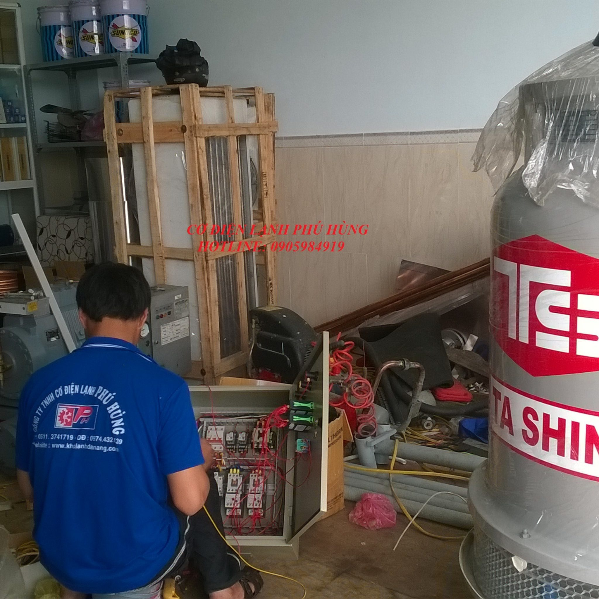 61 - Lắp Đặt kho lạnh trữ Cá Bò - Quảng Nam