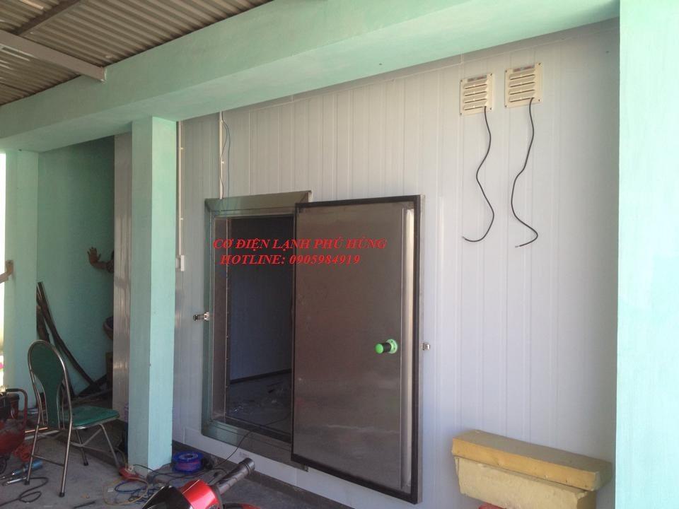 1 - Lắp kho lạnh trữ mực ống Hiền Anh- Quảng Nam
