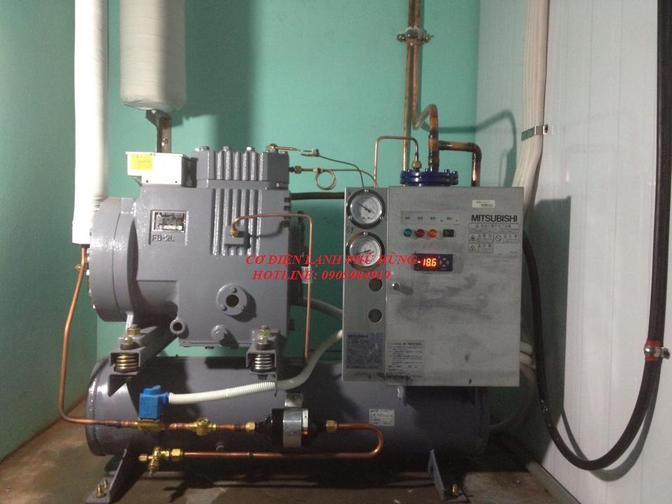 5 - Lắp kho lạnh trữ mực ống Hiền Anh- Quảng Nam